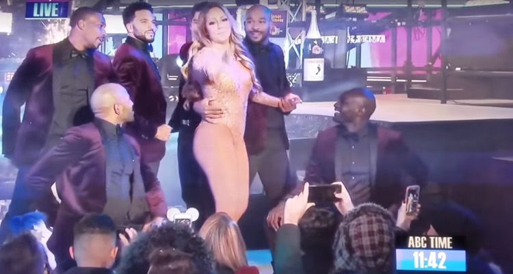 Mariah Carey after a disastrous showing on New Year's Eve.
