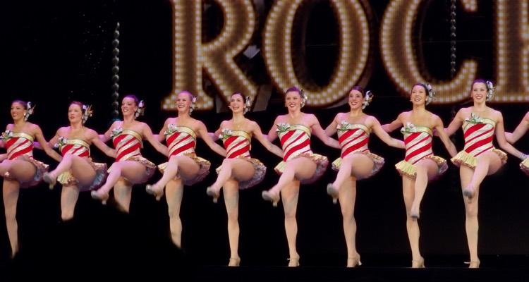 The Rockettes Dancing at Radio City Music Hall