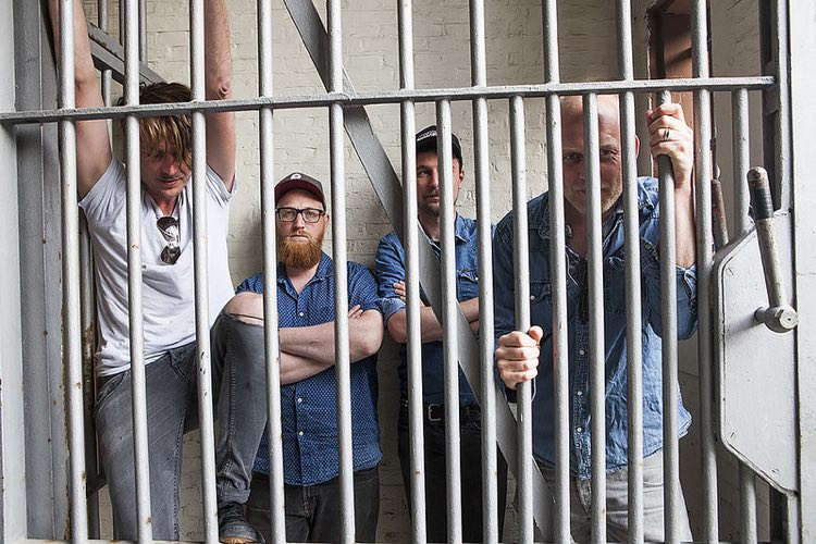 The 'Blokhuispoort' prison in the Netherlands (pictured with the band The Fire Harvest')