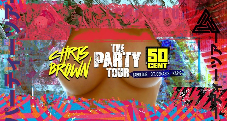 Chris Brown's Party Tour... NOT featuring 50 Cent.