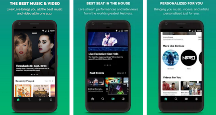 Best Free Music Apps – LiveXLive