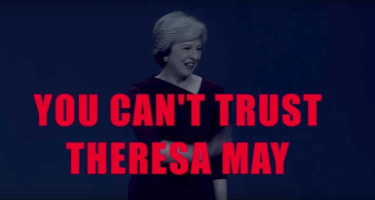 Screengrab of Captain Ska's 'Liar Liar GE2017' anti-Theresa May music video