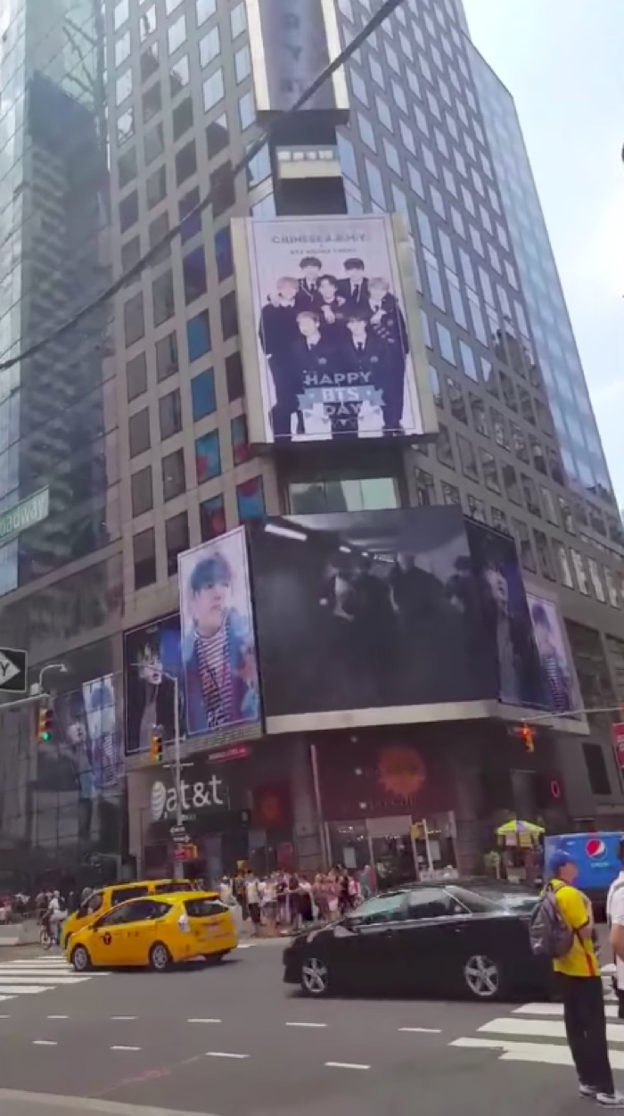 BTS ARMYs Blow Millions on a Times Square Billboard (See Photos)