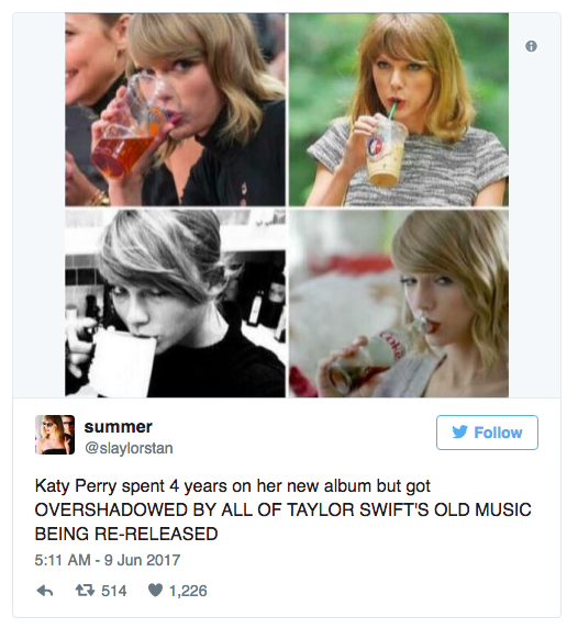 Taylor Swift: Throwing Shade on Katy Perry by Re-releasing her entire catalog on Spotify?