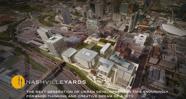 Aerial of Nashville Yards: AEG Is Jumping In