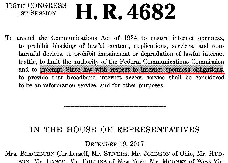 H.R. 4682 on net neutrality