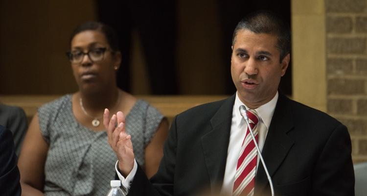 FCC Commissioner Ajit Pai, pictured in April, 2017.