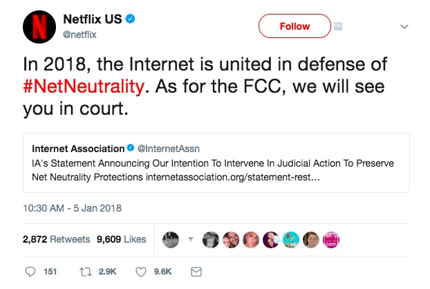 Facebook, Google, Netflix & Amazon are Taking Legal Action to Protect Net Neutrality