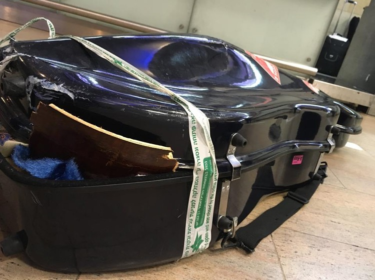 Alitalia Airlines Crushes a 350 Year-Old Viola de Gamba After Refusing to Allow It In the Cabin