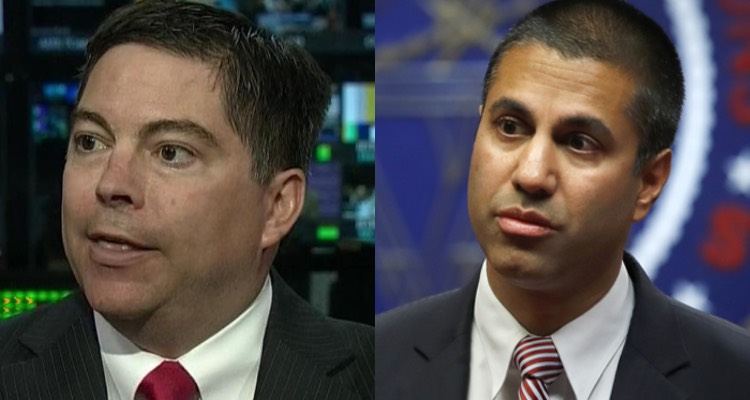 Is a federal payola investigation next? FCC commissioner Michael O'Rielly (l) and Chairman Ajit Pai (r)
