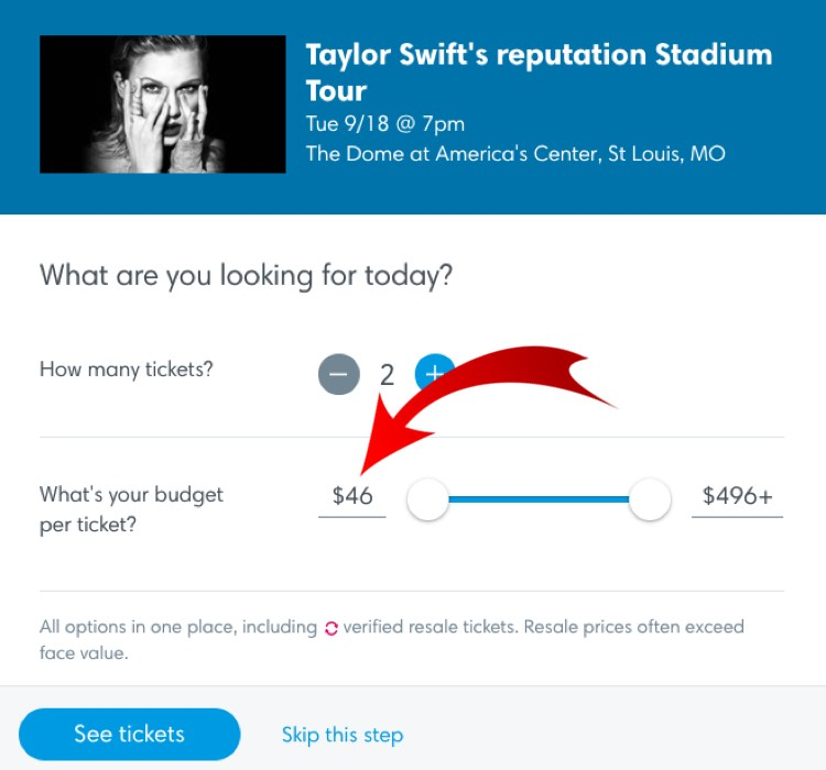 Screengrab of Taylor Swift's upcoming show in St. Louis