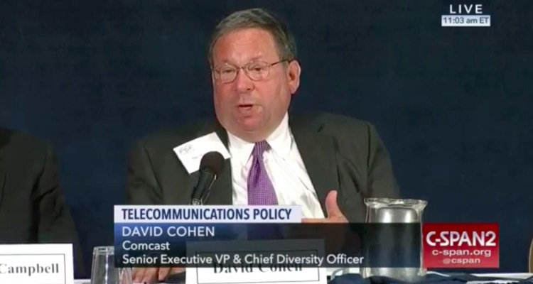 Comcast's chief lobbyist David Cohen, speaking on net neutrality.