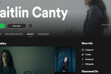 Caitliln Canty Spotify Artist Profile