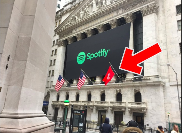 Spotify (SPOT) on the NYSE