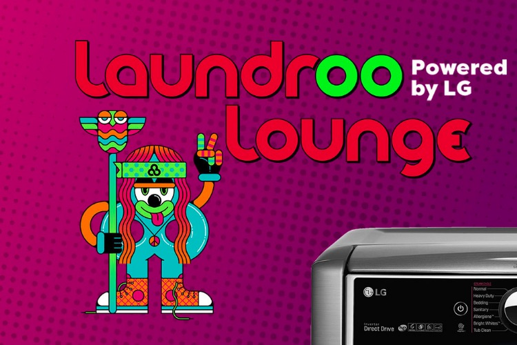 The 'LaundROO Lounge,' .Bonnaroo's first-ever on-site laundry service.