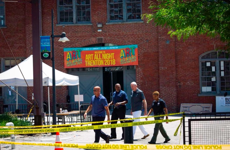 NJ Governor Phil Murphy tours the New Jersey Arts Festival Grounds