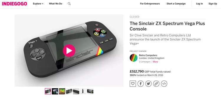 Indiegogo Actually Sent a Debt Collector After RCL Over Its Failed Vega+ Campaign
