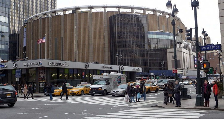 The fabled Madison Square Garden, viewed from 34th Street (photo: Rich Mitchell CC 2.0)