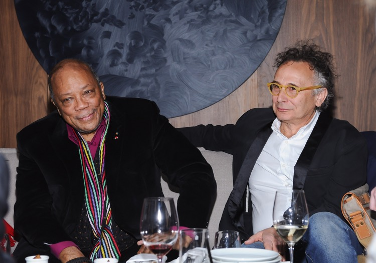 Quincy Jones with Norman Jewison (2014; photo: Canadian FIlm Centre CC by 2.0)