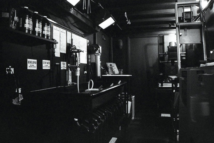 The dark digs at Third Man Records' Photo Studio in Nashville.