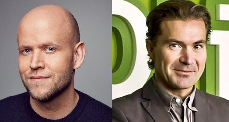 Daniel Ek (l) and Martin Lorentzon (r)
