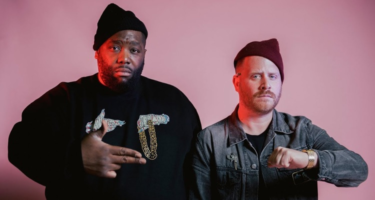 El-P (r) with Killer Mike (l), the duo that comprises Run the Jewels.