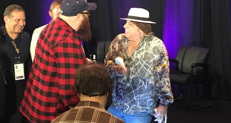 Steven Van Zandt greeting guests at the Making Vinyl conference in Detroit on Monday, October 1st.