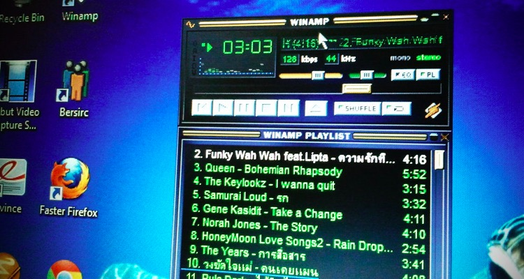Winamp back in the day.