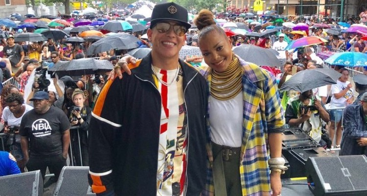 Janet Jackson and Daddy Yankee at Harlem Week.