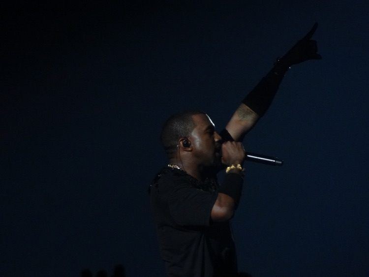 Kanye West performing in the Netherlands, 2012 (photo: Pieter-Jannick Dijkstra, CC 2.0)