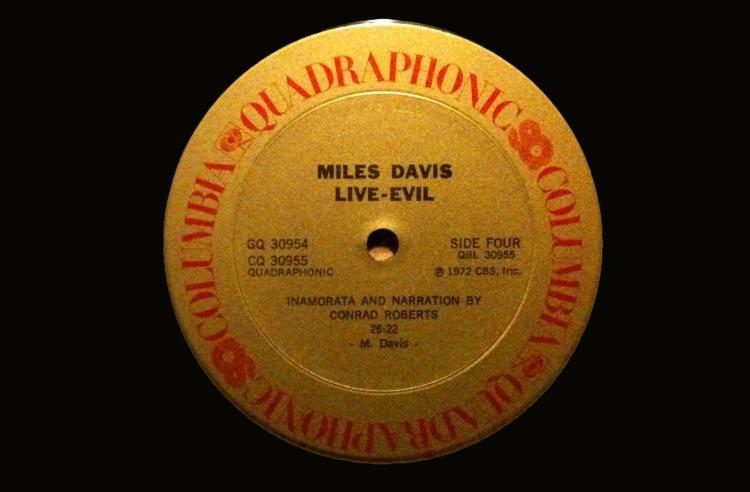 Miles Davis' Live-Evil LP in Quadraphonic, 1972