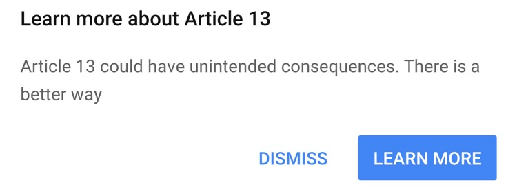 YouTube Is Now Running Pop-Ups Warning Users About Article 13