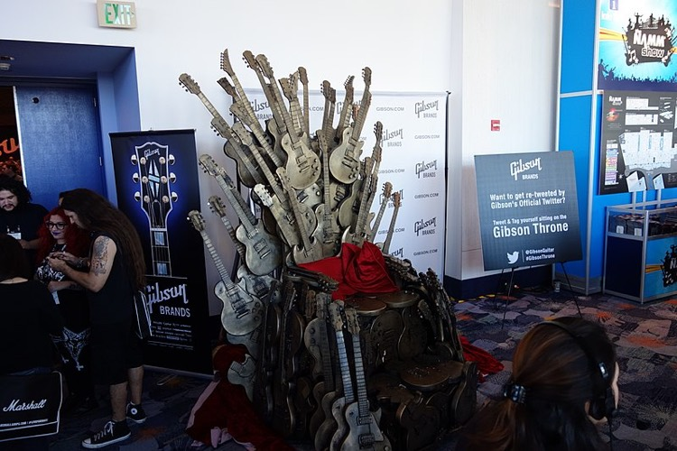 GIbson's Game of Thrones 'Throne' at NAMM