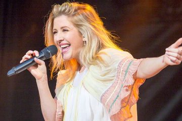 Ellie Goulding at the main stage during Stavernfestivalen in Stavern on 09. July 2016.