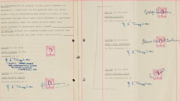 Beatles First Management Contract Sells for $347,000