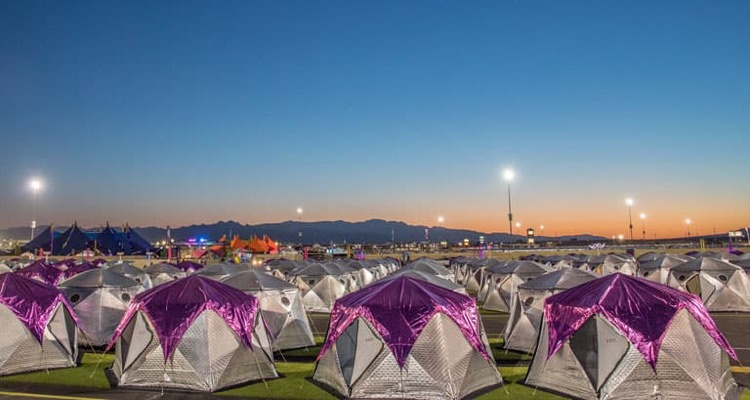 'Camp EDC' Tents from Electric Daisy Carnival (photo: Insomniac)