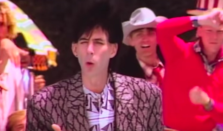 """Ric Ocasek in the video for The Cars smash """"Magic"""""""