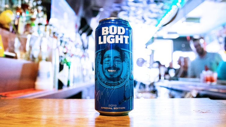 Limited-edition, 16 oz. Bud Light can featuring Post Malone (photo: Bud Light)