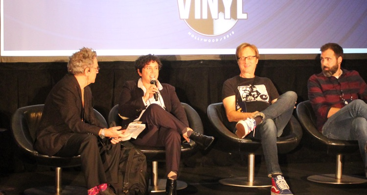 Rosie Lopez, president of Tommy Boy Records, speaking at Making Vinyl in Hollywood, CA last week (photo: Digital Music News, Public Domain)