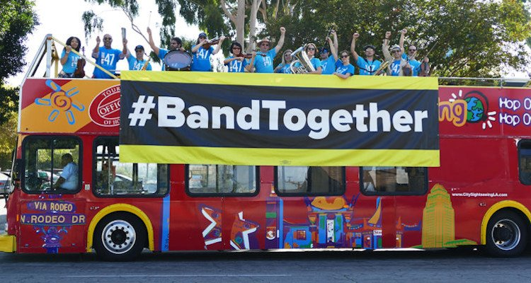 #BandTogether Rally at Disney Studios on Disney+ Launch Day To Demand Streaming Residuals