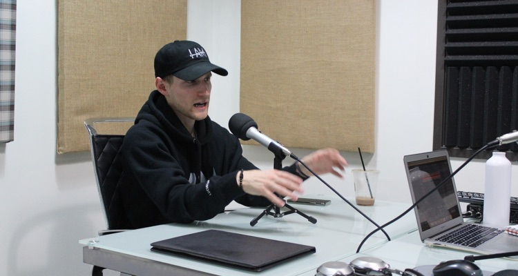 Rapper Lucidious on the Digital Music News Podcast (photo: DMN CC0)