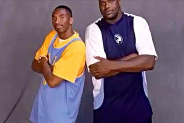 Kobe Bryant and Shaquille O'Neal, circa 1998