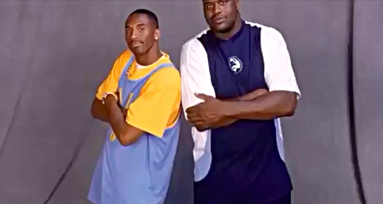 Kobe Bryant and Shaquille O'Neal, circa 1998