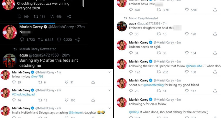 Mariah Carey Twitter hacked