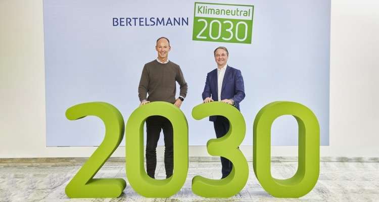 Thomas Rabe (l), Chairman & CEO of Bertelsmann; and Immanuel Hermreck (r), Chief Human Resources Officer