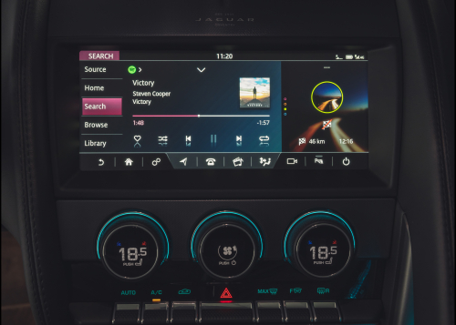 Jaguar Spotify dashboard app