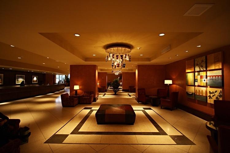 Hilton Lobby, Austin, TX, a typically busy thoroughfare during SXSW (photo: Derek Key CC 2.0)