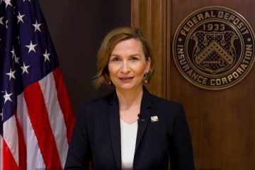 FDIC chairwoman Jelena McWilliams in a PSA video issued March 24th.