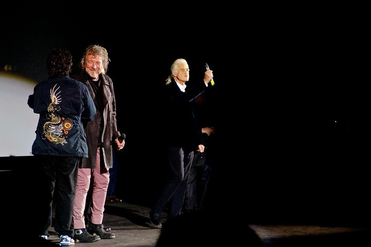 Led Zeppelin celebrating the release of their concert film, Celebration Day, in 2012 (photo: Paul Hudson CC by 2.0)