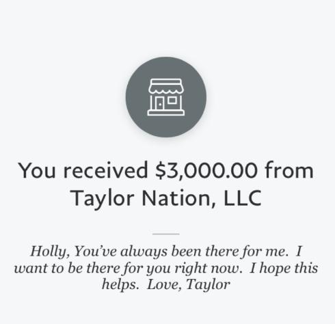 Taylor Swift stimulus
